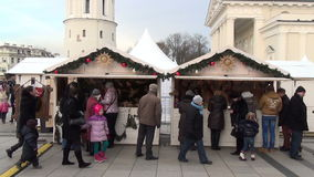 Fair stall garland people stock video footage