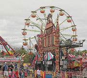 State Fair Ferris Wheel and Carnival Stock Image
