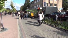 Fair street people rural stock footage