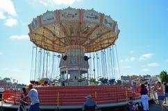 Fair swing ride royalty free stock photos