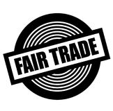 Fair trade black stamp. On white background royalty free illustration