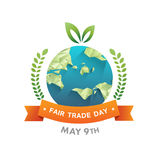 Fair Trade day vector Royalty Free Stock Photography
