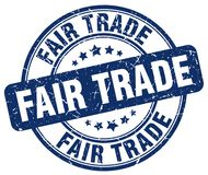 Fair trade stamp. Fair trade grunge stamp on white background vector illustration