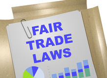 Fair-Trade Laws - business concept Royalty Free Stock Image