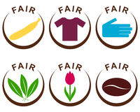 Fair trade products. Detailed and colorful illustration of fair trade products vector illustration