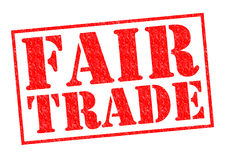 FAIR TRADE. Red Rubber stamp over a white background Stock Photography