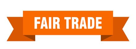 Fair trade ribbon. Fair trade banner. sign. fair trade vector illustration