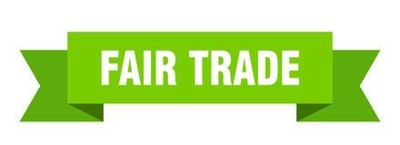 Fair trade ribbon. Fair trade banner. sign. fair trade royalty free illustration