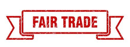 Fair trade ribbon. Fair trade vintage sign. banner. fair trade stock illustration
