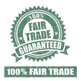 Fair Trade Rubber Stamp. On white background Stock Photos