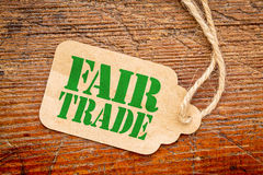 Fair trade sign  on a price tag Stock Images