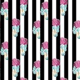 Seamless pattern with bunches of roses royalty free stock photo