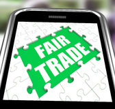 Fair Trade Smartphone Means Shop Or Buy Fairtrade Stock Photo