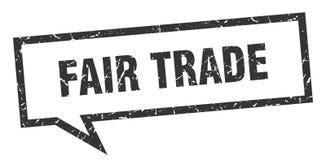 Fair trade speech bubble. Fair trade isolated sign.  fair trade vector illustration