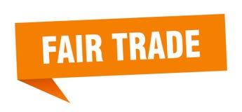 Fair trade speech bubble. Fair trade sign. fair trade royalty free illustration