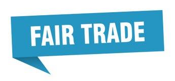 Fair trade speech bubble. Fair trade sign. fair trade vector illustration