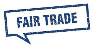 Fair trade speech bubble. Fair trade isolated sign.  fair trade royalty free illustration