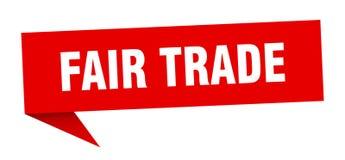 Fair trade speech bubble. Fair trade sign. fair trade stock illustration