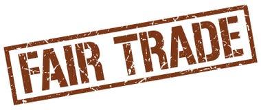 Fair trade stamp. Fair trade grunge stamp on white background royalty free illustration
