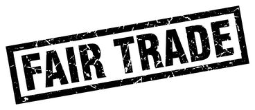 Fair trade stamp. Fair trade grunge stamp on white background stock illustration