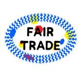 FAIR TRADE stamp on white royalty free illustration
