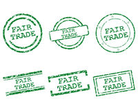 Fair trade stamps. Detailed and accurate illustration of fair trade stamps stock illustration
