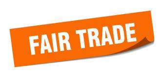 Fair trade sticker. Fair trade square sign. fair trade stock illustration