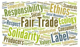 Fair trade word cloud. Illustration Stock Images