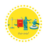 Fair Trial Concept Icon Flat Design Stock Photo