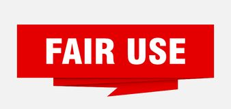 Fair use. Sign.  paper origami speech bubble.  tag.  banner royalty free illustration
