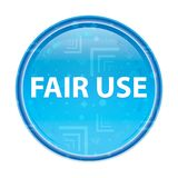 Fair Use floral blue round button stock illustration