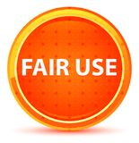 Fair Use Natural Orange Round Button. Fair Use Isolated on Natural Orange Round Button stock illustration