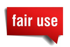 Fair use red 3d speech bubble royalty free illustration