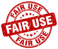 Fair use red stamp. Fair use red grunge stamp royalty free illustration