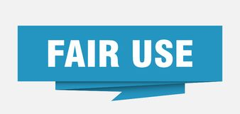 Fair use. Sign.  paper origami speech bubble.  tag.  banner vector illustration