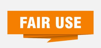 Fair use. Sign.  paper origami speech bubble.  tag.  banner stock illustration