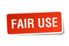 Fair use sticker. Fair use square sticker isolated on white background stock illustration