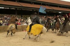 Fair and white truffle of Alba donkey race. Stock Photo