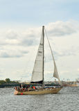 A fair wind for the boat. Royalty Free Stock Photos