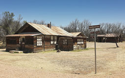 A Fairbank, Arizona, Ghost Town Railroad Ave. Shot Royalty Free Stock Images