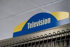 FAIRBANKS ALASKA: Signage für den beiseite legenden Bereich des Fernsehen DVD in einem Rennervideospeicher stockfotografie