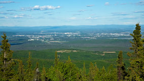 Fairbanks, Alaska. View of the city of Fairbanks, Alaska from Ester Dome royalty free stock images