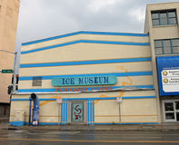 Fairbanks Ice Museum. Is located in a vintage theater Stock Photo