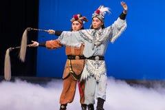 """Fairchild de los ciervos y de la grúa - el  blanco de Opera""""Madame Snake†del segundo acto-Kunqu Imagen de archivo"""