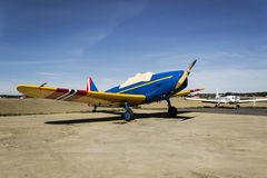 Fairchild PT-19 Small aircraft. Fairchild PT-19 (developed from the Fairchild M-62) was a single-engine trainer for basic training of flyelever. It was developed Stock Images