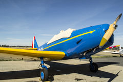 Fairchild PT-19 - Spirit Little Norway. Fairchild PT-19 (developed from the Fairchild M-62) was a single-engine trainer for basic training of flyelever. It was Royalty Free Stock Photo