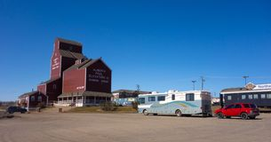 Faire bon accueil au centre chez Dawson Creek, Canada Photo stock