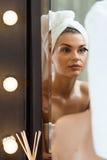 Faire de femme de beauté composent Image libre de droits