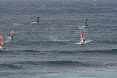 Faire de la planche à voile dans Maui Photo stock