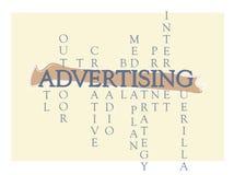 Faire de la publicité le graphique de Word illustration de vecteur